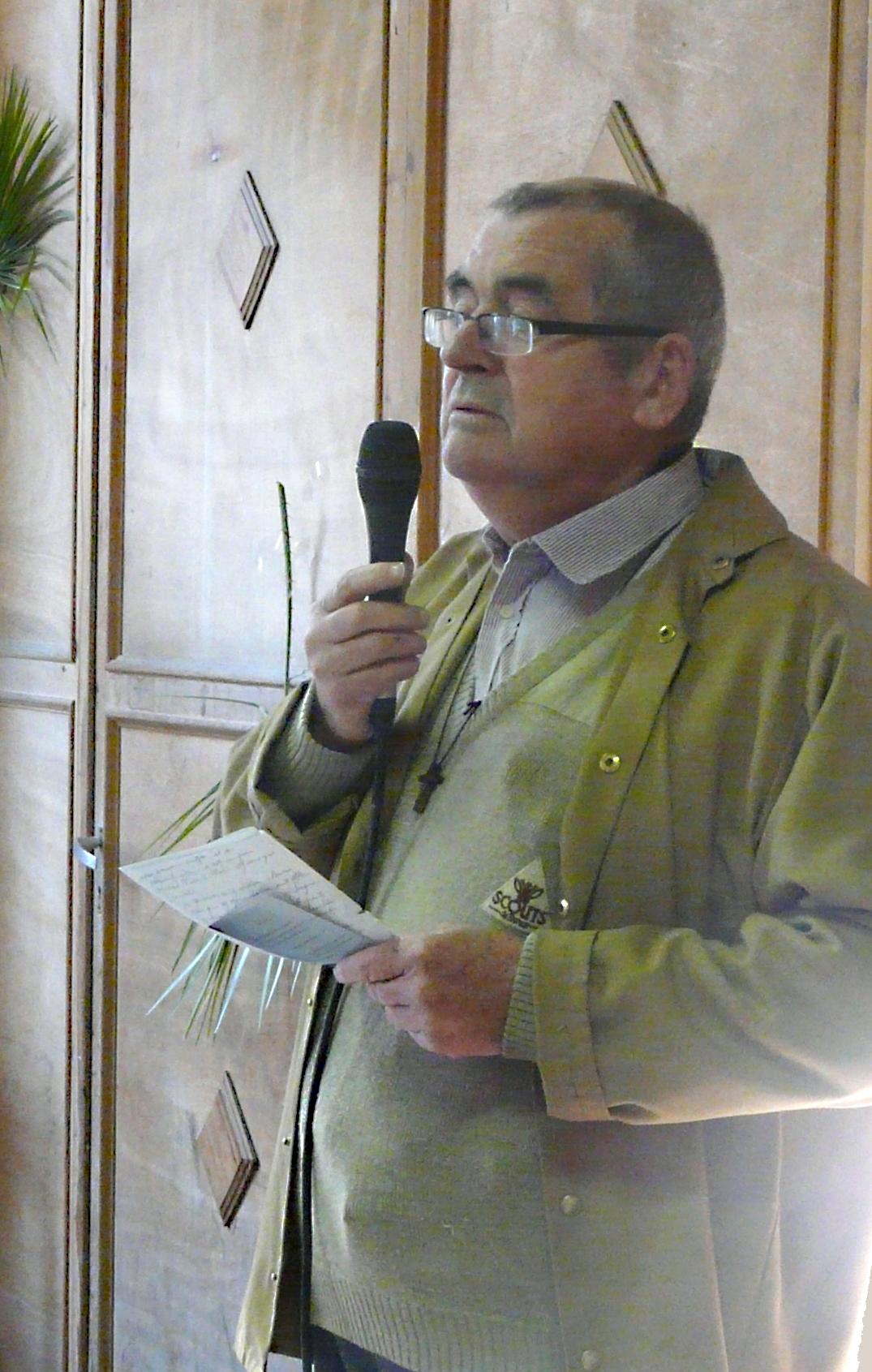 Jean Grenapin, President de l Association Vendeenne des Pelerins de Saint Jacques