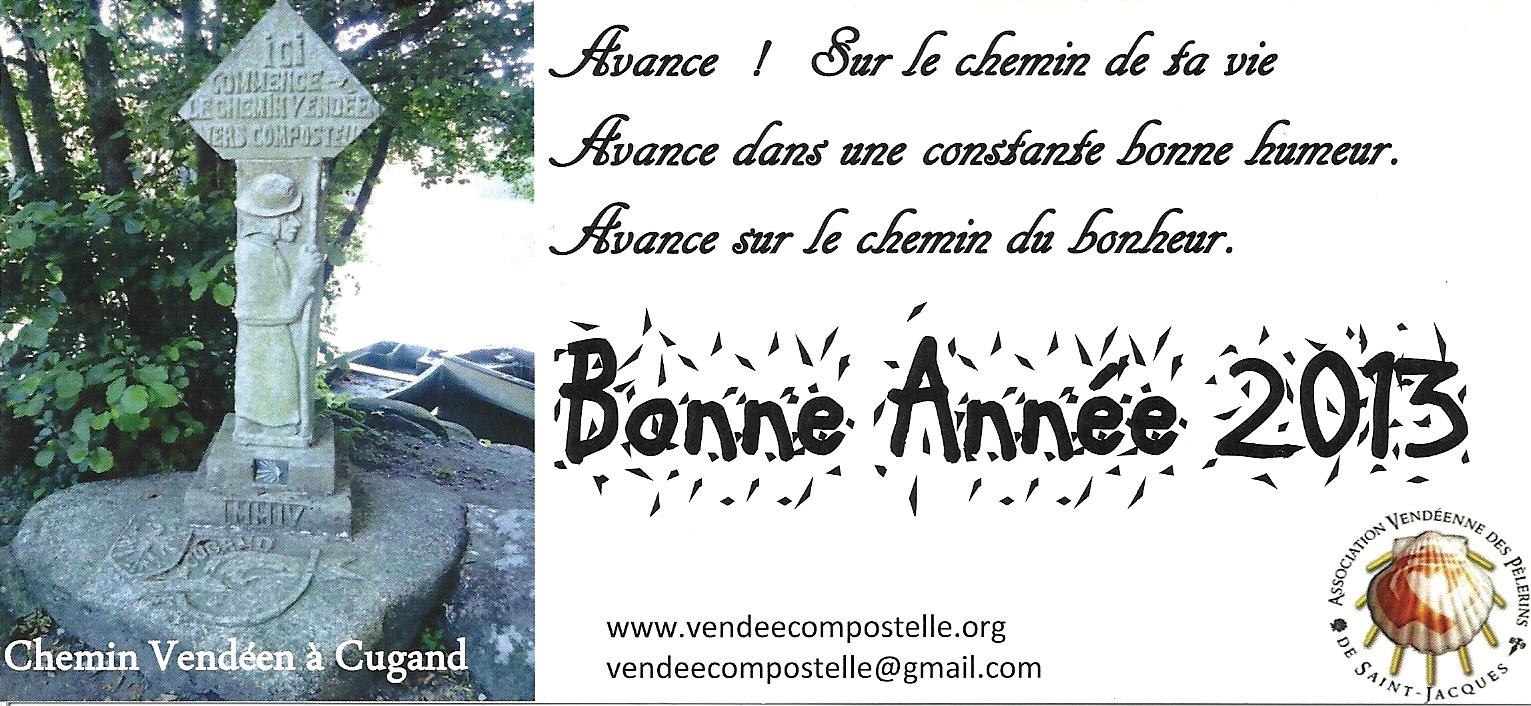 Association Vendeenne des Pelerins de Saint Jacques, Meilleurs Voeux 2013