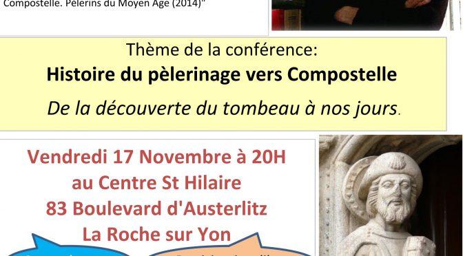 Conférence St Jacques le 17 novembre 2017
